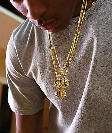 King Ice x Champion Heritage Medallion Gold Necklace