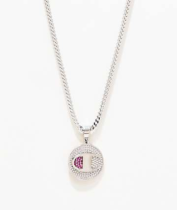 King Ice x Champion Heritage Medallion Silver Necklace