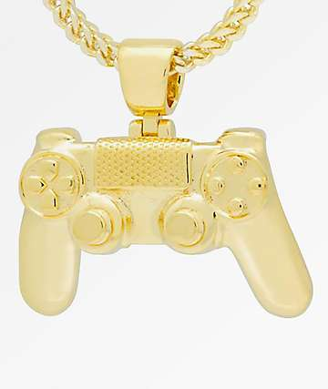 King Ice x PlayStation Classic PlayStation Controller Gold Chain Necklace