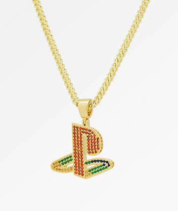 King Ice x PlayStation Logo Gold Necklace