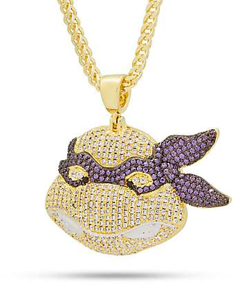King Ice x TMNT Donatello Gold Necklace