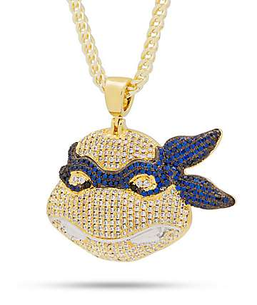 King Ice x TMNT Leonardo Gold Necklace