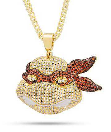 King Ice x TMNT Michaelangelo Gold Necklace