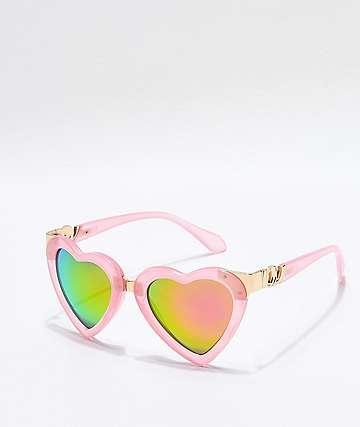 Kip gafas de sol de corazón en rosa