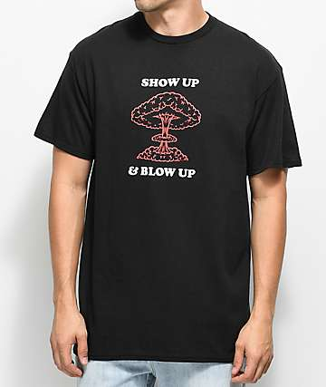 Know Bad Days Show Up Blow Up Black T-Shirt