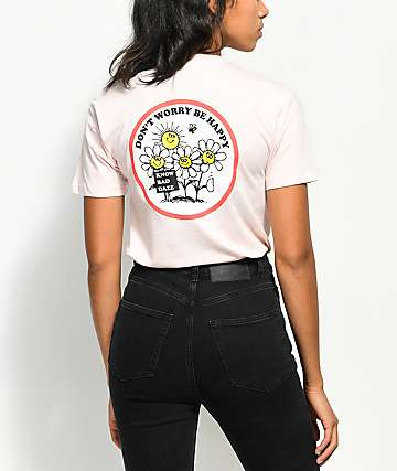 Know Bad Daze Be Happy Light Pink T-Shirt