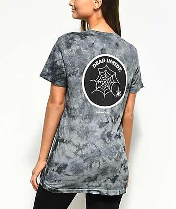 Know Bad Daze Dead Inside Black Tie Dye T-Shirt