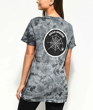 Know Bad Daze Dead Inside Black Tie Dye T-Shirt