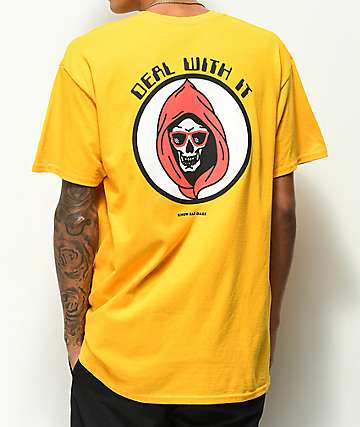 Know Bad Daze Deal camiseta dorada