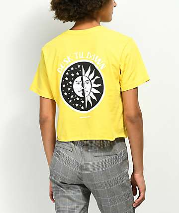 Know Bad Daze Dusk Gold Crop T-Shirt