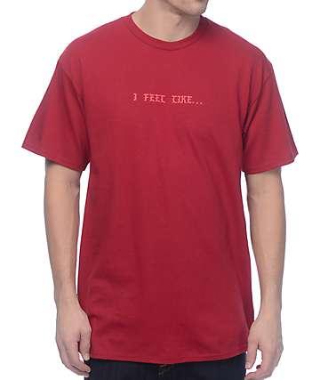 Know Bad Daze Feel Like camiseta en color vino