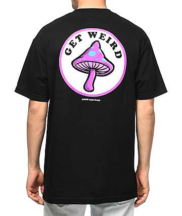 Know Bad Daze Get Weird camiseta negra