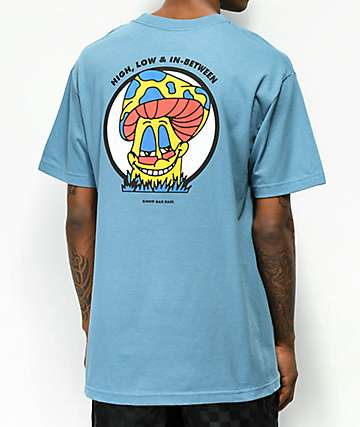 Know Bad Daze High Low Slate Blue T-Shirt