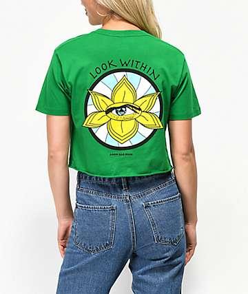 Know Bad Daze Look Within camiseta corta verde