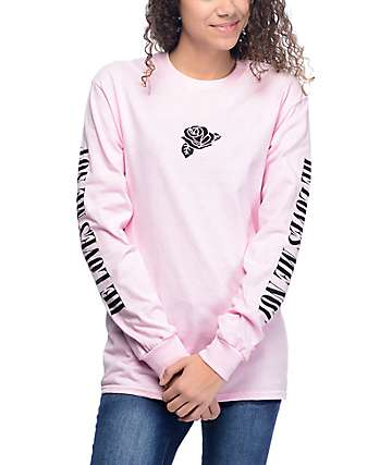 Know Bad Daze Loves Me Not camiseta rosa de manga larga