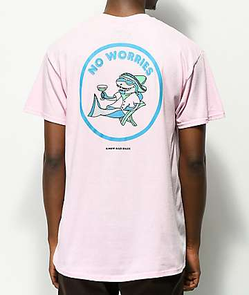 Know Bad Daze No Worries Pink T-Shirt