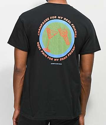 Know Bad Daze Real Friends Black T-Shirt