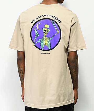 Know Bad Daze Weirdo's Sand T-Shirt
