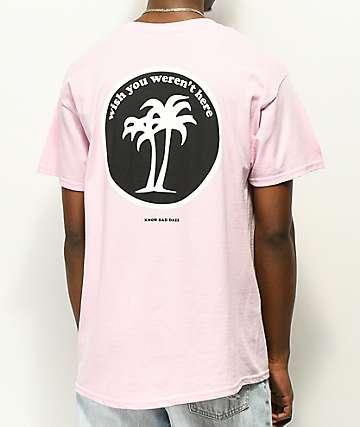 Know Bad Daze Wish You Weren't Here camiseta rosa