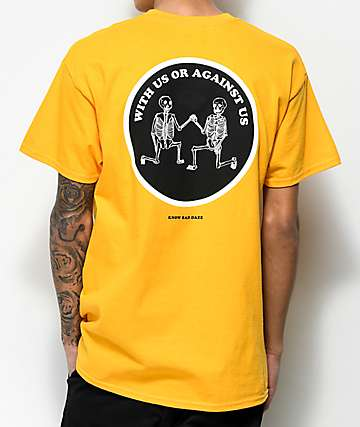 Know Bad Daze With Us Yellow T-Shirt