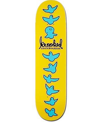 "Krooked Birdical Yellow 8.06""  Skateboard Deck"