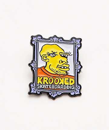 Krooked Frame Face Enamel Pin