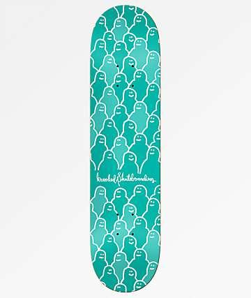 """Krooked Krouded 8.06"""" Green Skateboard Deck"""