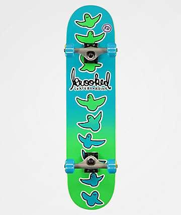 """Krooked Radical Fads 7.5"""" Skateboard Complete"""
