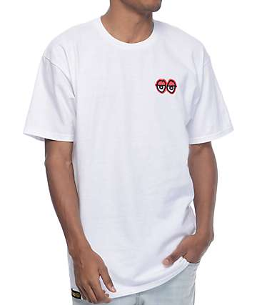 Krooked Stock Eyes Embroidered White T-Shirt