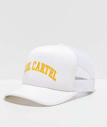 LOL Cartel High White Trucker Hat