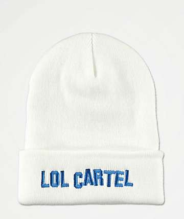 LOL Cartel Hollywood White Beanie