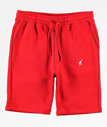 LRG 47 Red Sweat Shorts