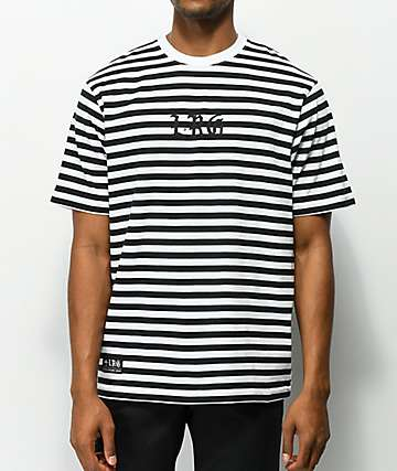 LRG Bar Tab Black & White Striped T-Shirt
