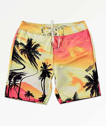 LRG Day Trippin Orange Board Shorts