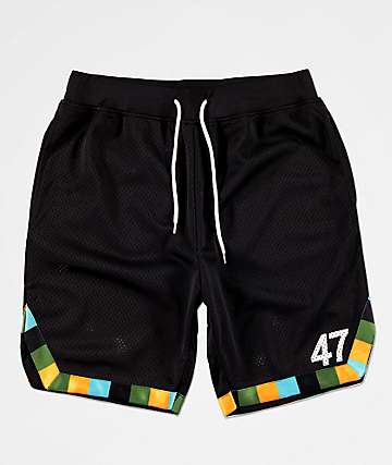 LRG Energy Tribe Black Basketball Shorts