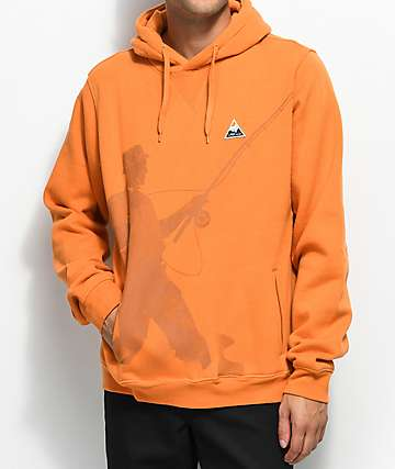 LRG Fish Lyfe Orange Hoodie