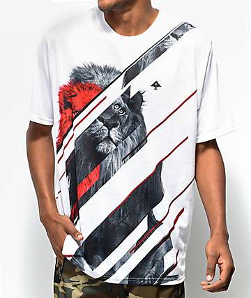 LRG Lion Lounge White T-Shirt