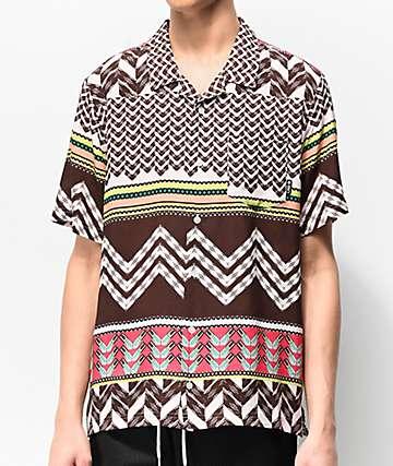 LRG Mali Slinky Woven Short Sleeve Button Up Shirt