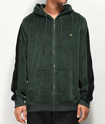 LRG Method Velour Green Hoodie