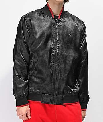 LRG Natural Geo chaqueta bomber en negro