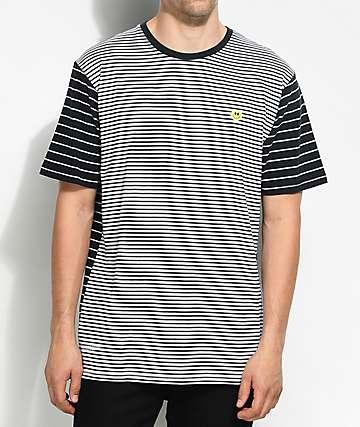 LRG Nevermind Striped Black & White T-Shirt