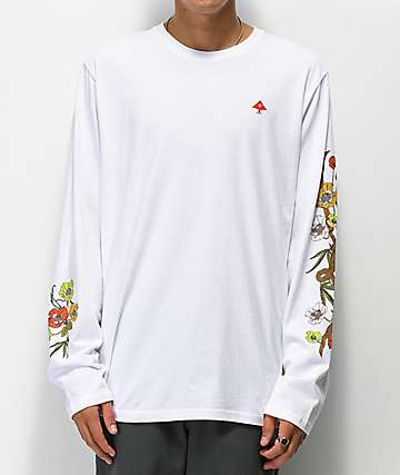 LRG Psychotropic White Long Sleeve T-Shirt