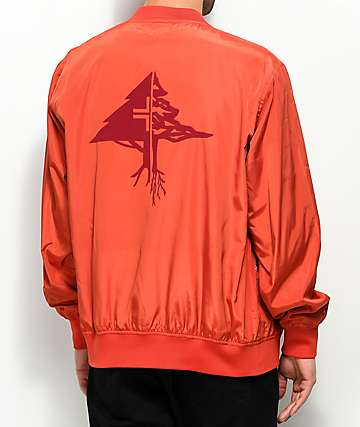 LRG Research Collection Red Varsity Bomber Jacket