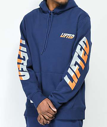LRG Triple Lifted Navy Hoodie
