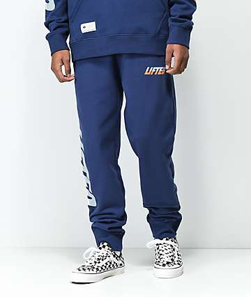 LRG Triple Lifted Navy Sweatpants
