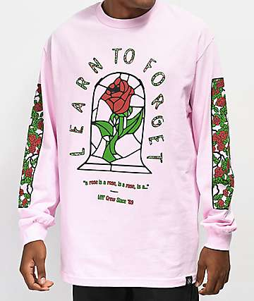 LTF Stained Rose Pink Long Sleeve T-Shirt