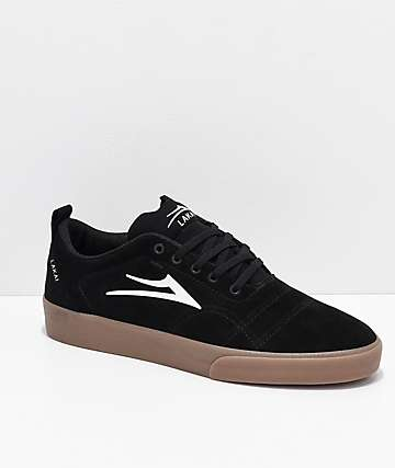 Lakai Bristol Black & Gum Suede Skate Shoes