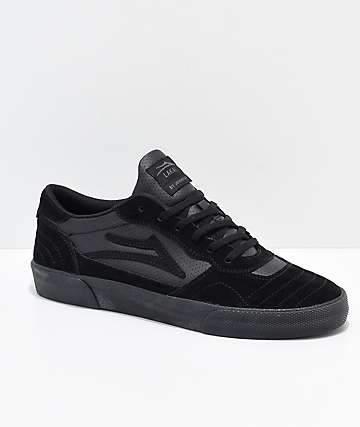 Lakai Cambridge All Black Suede Skate Shoes
