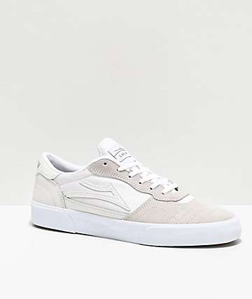 Lakai Cambridge White Suede Skate Shoes