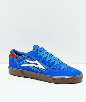 Lakai Cambridge zapatos de skate de ante azul